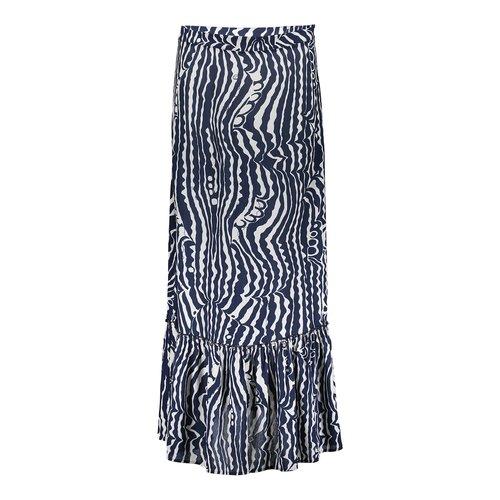 Geisha Geisha Skirt irr stripe 16377-40 navy/kit
