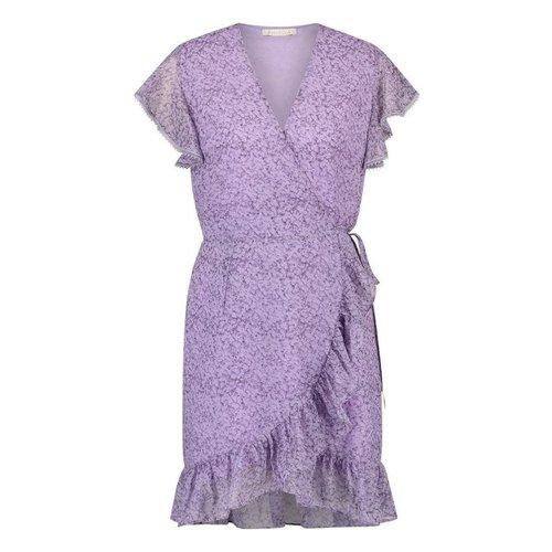 Freebird Freebird Mini Dress Rosy short sleeve lilac