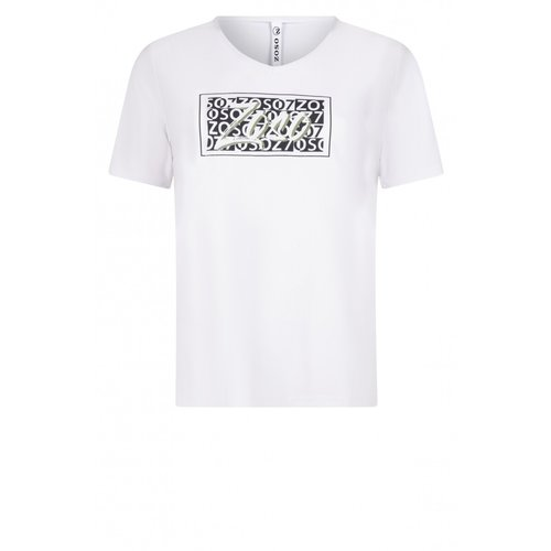 Zoso Zoso T-Shirt with print 213 Ingrid white/navy