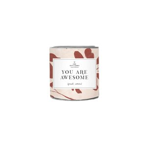 The Gift Label Candle small - You are Awesome - Jasmine vanilla 1011792