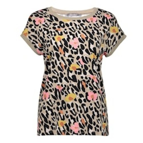 Geisha Geisha T-shirt fancy Sarah 12420-60  pink leopard