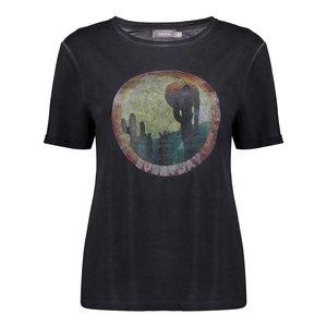 Geisha Geisha T-shirt cactus 12365-41 antraciet