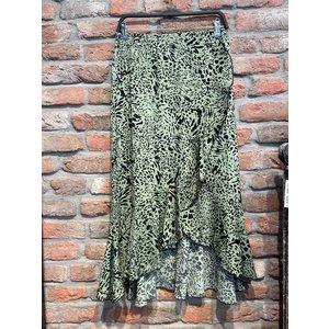 Skirt Long Aminal Print army