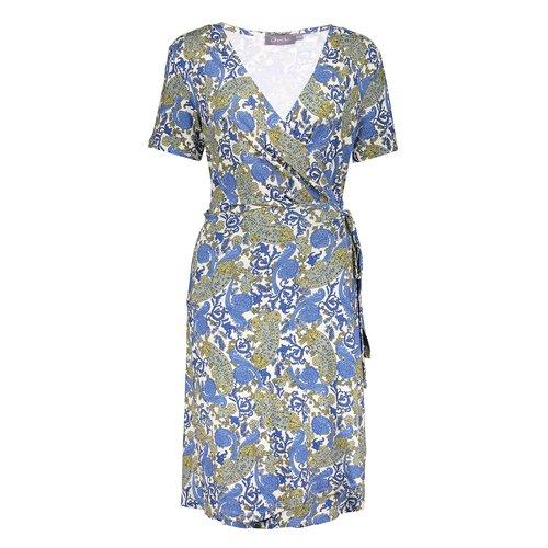 Geisha Geisha Dress Wrap 17394-60 Blue paisley