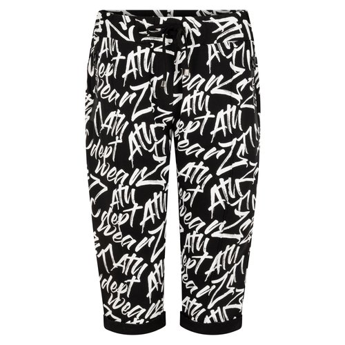 Zoso Zoso Pants capri 214 Streets graffiti black white