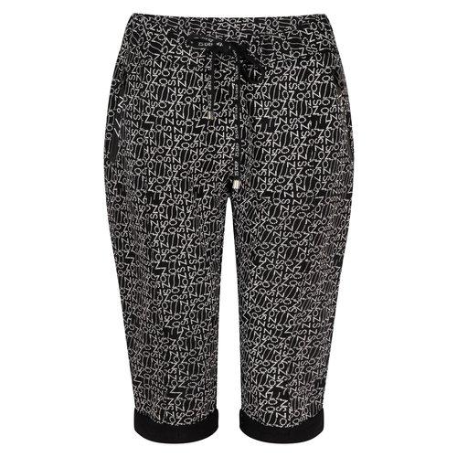 Zoso Zoso Pants capri 214 Hit printed black white