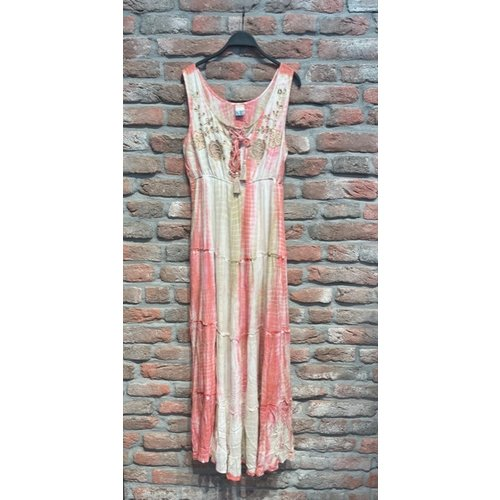 New York Long Dress Sue roze one size