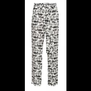 &Co &Co Aukje Pants 14SS-PA151-H Spot Print off white