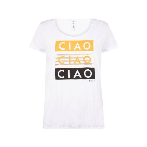 Zoso Zoso T-Shirt 214 Ciao with print (verschillende kleuren)