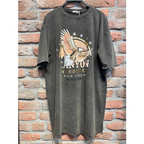 New York T-shirt Tuniek Beau one size