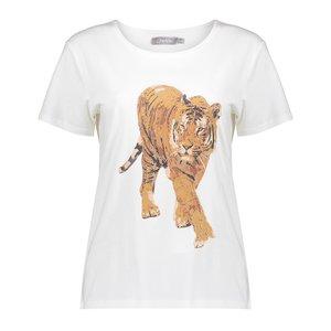 Geisha Geisha T-Shirt Tiger 12602-25 off white