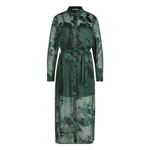 Freebird Freebird Dress Harper LS pes-21-3 dark green