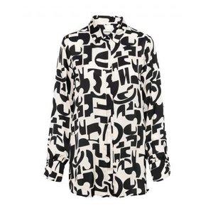 &Co &CO blouse Bowien letter