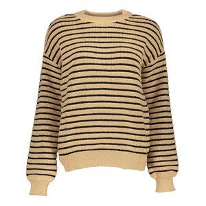 Geisha Geisha Pullover stripe 14544-29 camel/black