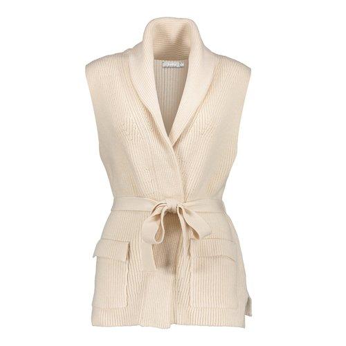 Geisha Geisha Vest belt sleeveless 14517-10