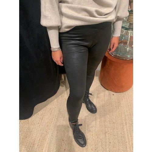 New York legging leatherlook zwart
