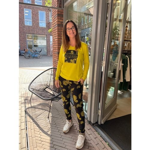 Zoso Zoso T-Shirt with print 215 Jessy yellow/black