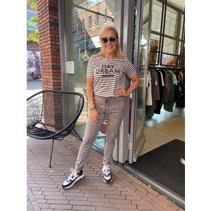 Zoso Zoso striped Shirt 215 Jill off white/taupe