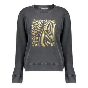 Geisha Geisha sweater mixed animal print 12535-24