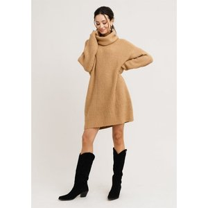 Rut&Circle Rut&Circle Knit Dress Alex camel