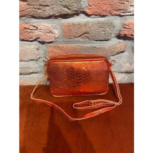 new york New York Bag Croco gold orange