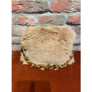 new york New York Bag golden Chain beige