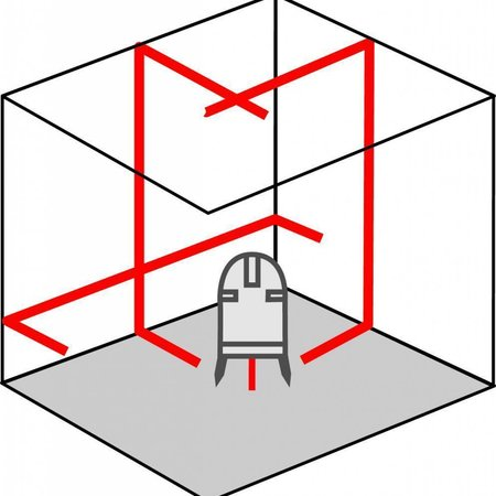 ADA  PROLiner 2V kruislijnlaser 3 lijns Set
