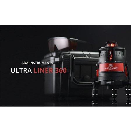 ADA  ULTRALiner 4V 360°H kruislijnlaser in kunstof koffer