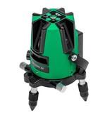 ADA  3D Liner 2V Groene kruislijnlaser met 3 zeer helder groene lijnen, inclusief Li-ion accu en lader