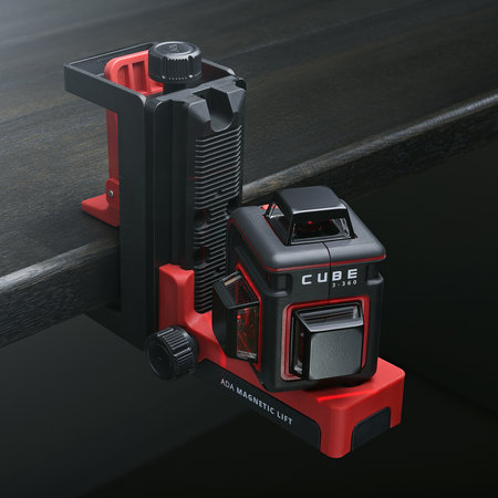 ADA  CUBE 3-360 Ultimate Set rode Lijnlaser met 3x360° rode lijnen