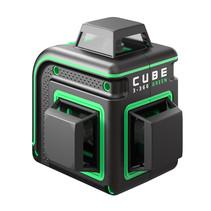 CUBE 3-360 Basic Edition green line laser with 3x360° green lines Li-ion batt. and charger