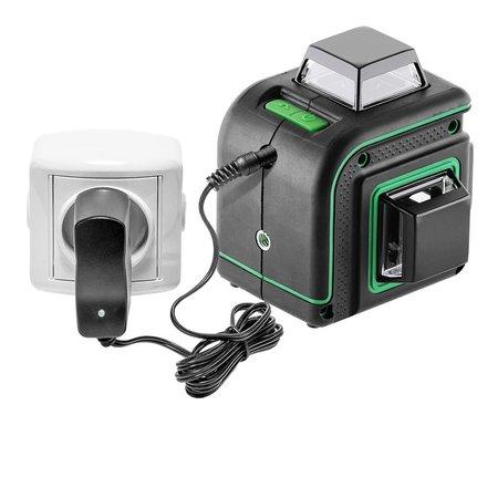 ADA  CUBE 3-360 Basic Edition groene Lijnlaser met 3x360° groene lijnen , Li-ion accu en lader
