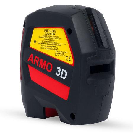 ADA  ARMO 3D kruislijnlaser met 2 verticale lijnen