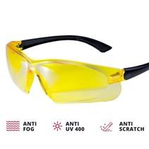 Gele veiligheidsbril VISOR CONTRAST