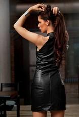 SOLEIL  by XXX COLLECTION Pu- leren jurk heeft aan de voorkant een ritssluiting.