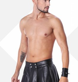 * Code8 by XXX COLLECTION Zwart leren heren gladiator rok