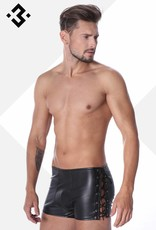 Code8 by XXX COLLECTION Eco-Leren Short met vetersluiting