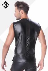 Code8 by XXX COLLECTION Eco-Leren Shirt met mesh aan voor en achterzijde