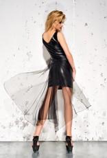 * ME SEDUCE Elegant en fancy deze eco leren jurk met tule