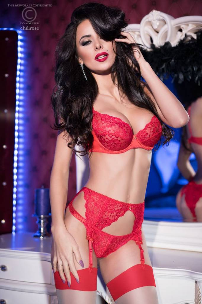 CHILIROSE Sexy rode lingerieset CR4192-R van Chilirose