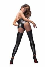 * NOIR handmade Wetlook bodysuit met gestreken halslijn van Noir Handmade B # TCH