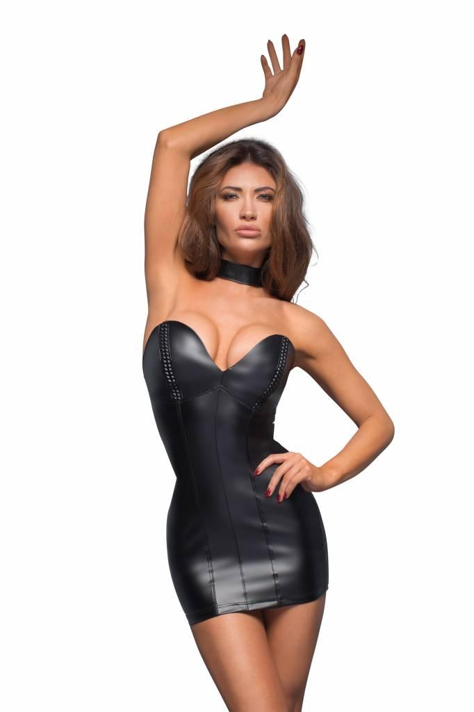 * NOIR handmade Wetlook mini-jurk S -L -XL -2XL-3XL