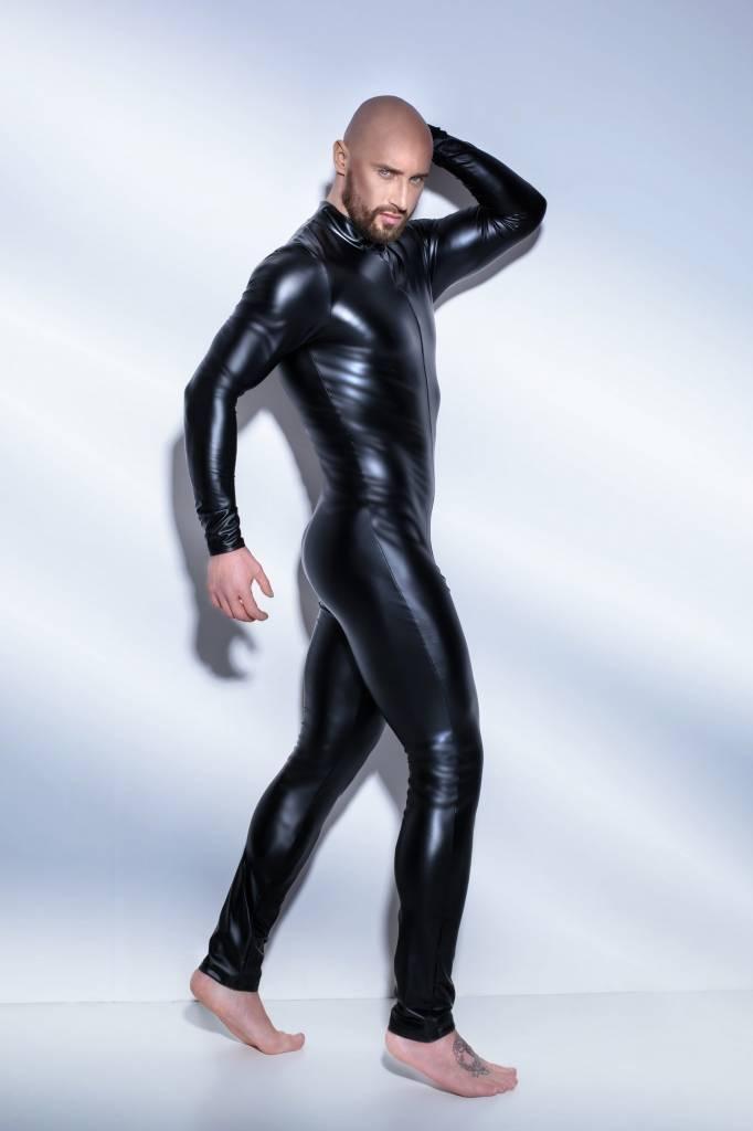 * NOIR handmade Wetlook heren catsuit met tweewegrits van Noir Handmade UnChained