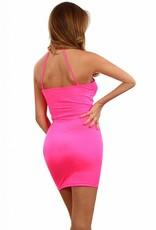 Mooi stretch jurkje met spannend decolleté