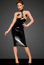 NOIR handmade Onderborst Lak jurk van Noir Handmade Decadence