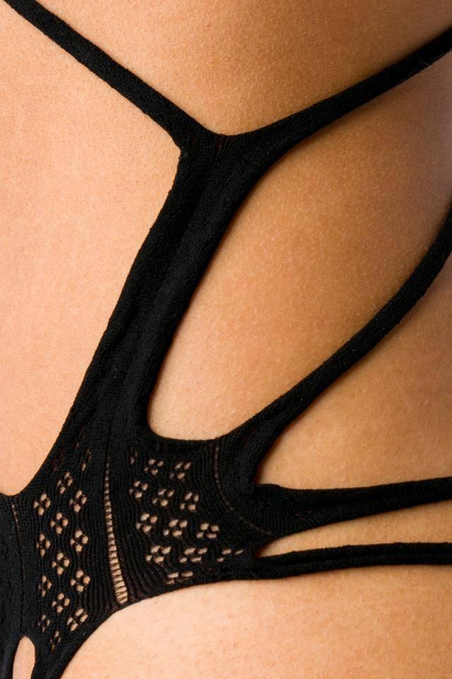 Zwarte naadloze stretch body