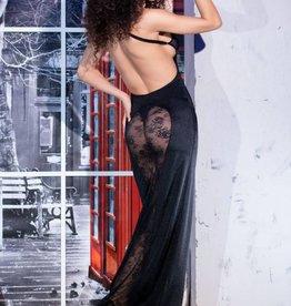 * CHILIROSE Lange jurk met transparante achterkant