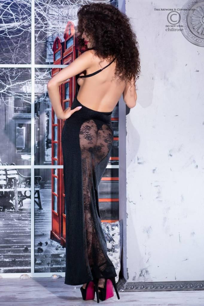 CHILIROSE Lange jurk met transparante achterkant van Chilirose