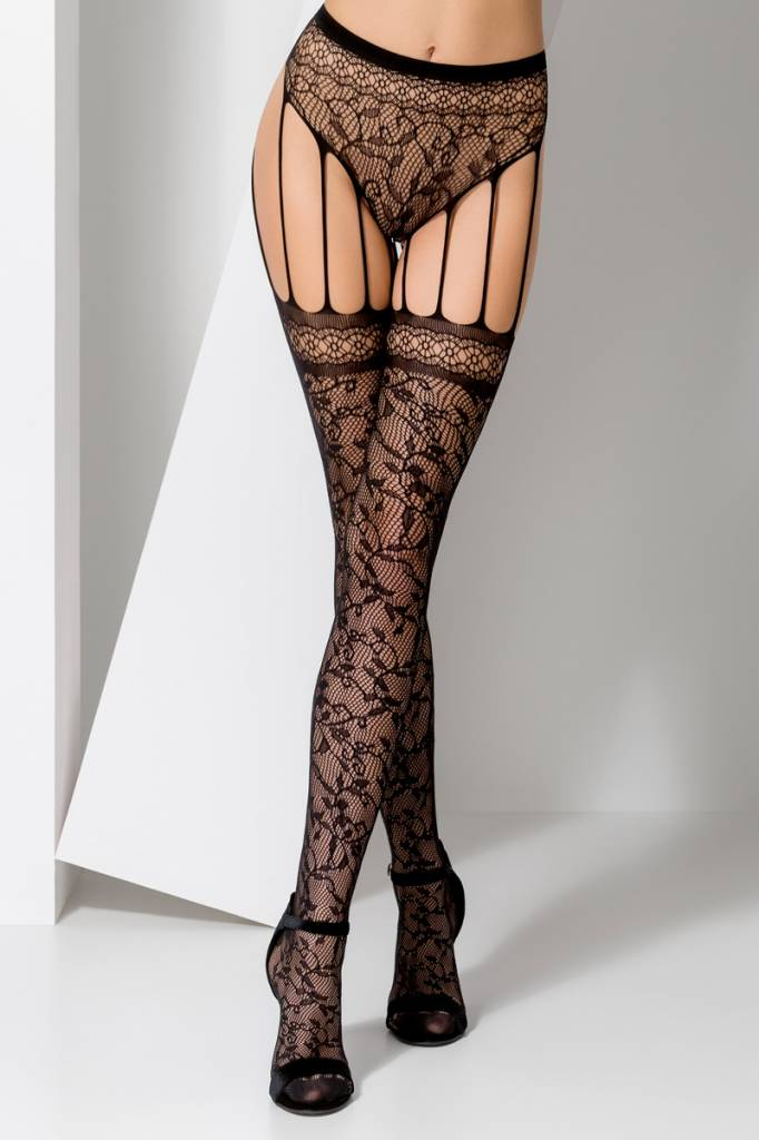 Passion zwarte strip panty S003-Zwart