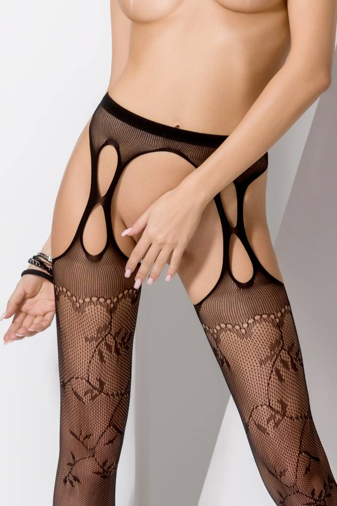 Passion zwarte strip panty S002